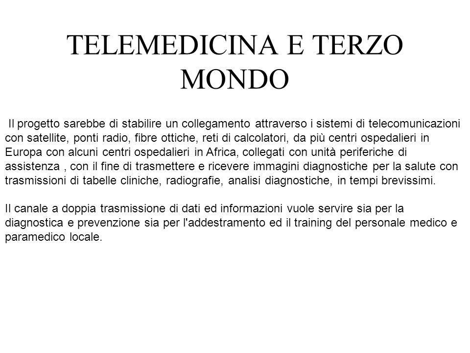 Si tratta di una dimostrazione di teleconsulto diagnostico che mostri la possibilità dello sviluppo della telemedicina in Africa.