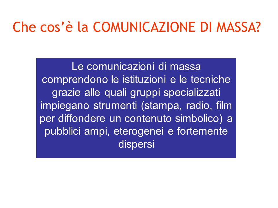 Che cosè la COMUNICAZIONE DI MASSA.