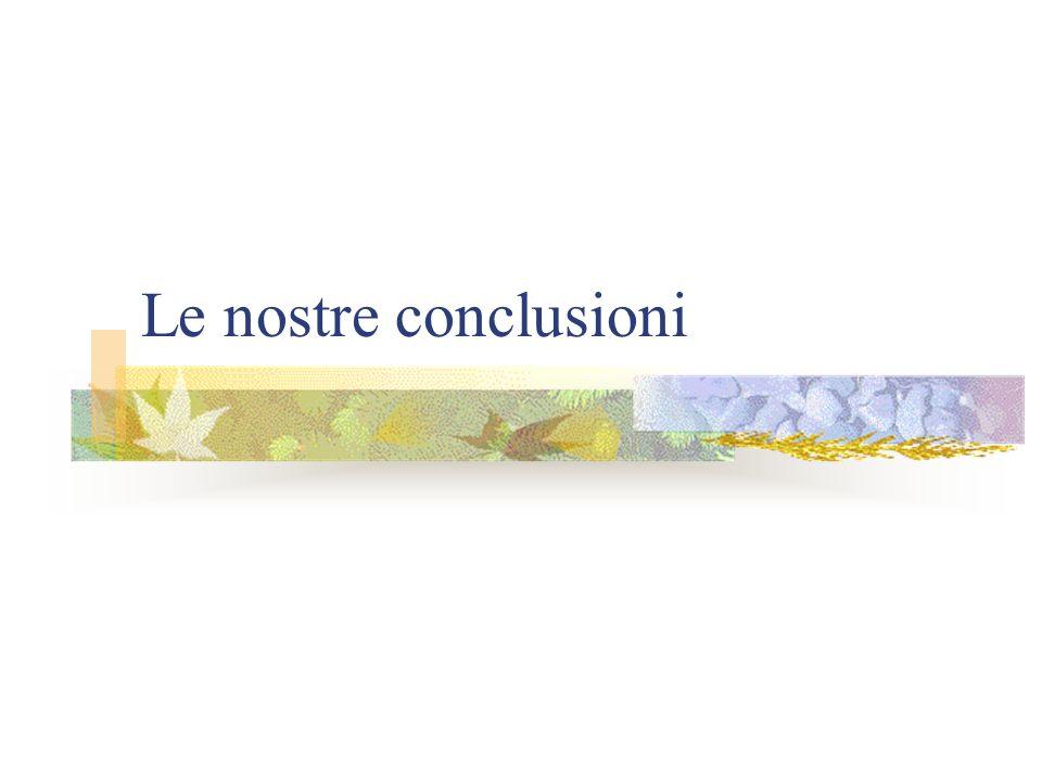Le nostre conclusioni