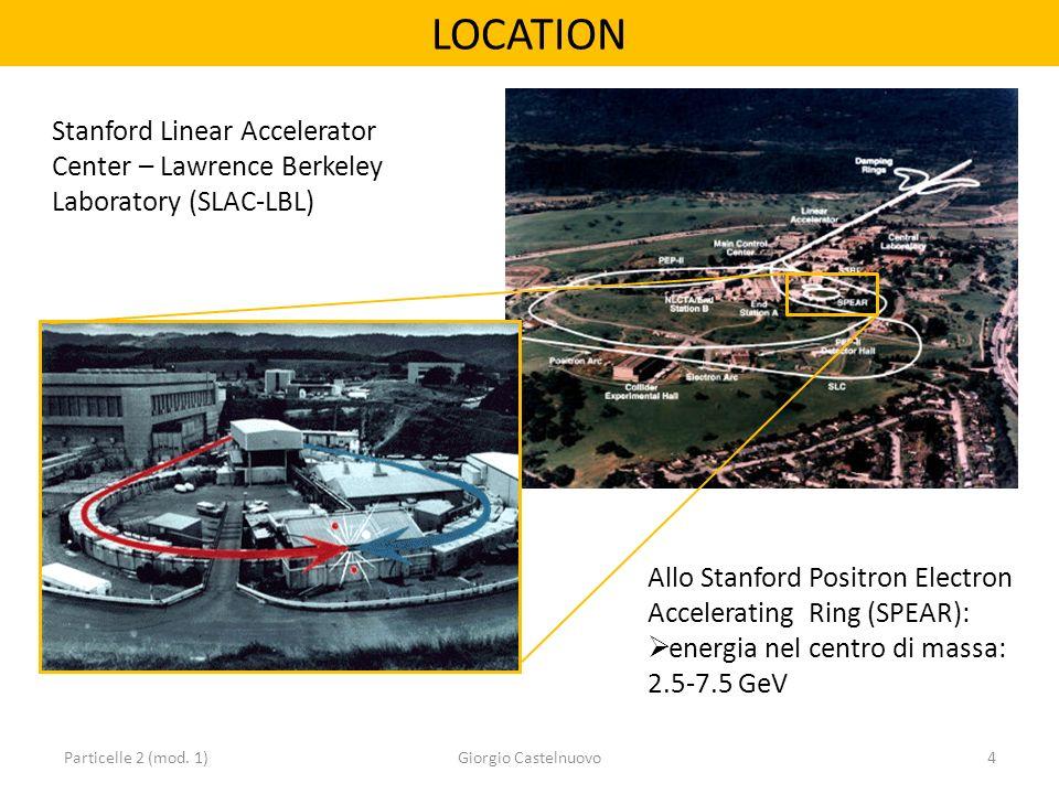 LOCATION Particelle 2 (mod. 1)Giorgio Castelnuovo4 Stanford Linear Accelerator Center – Lawrence Berkeley Laboratory (SLAC-LBL) Allo Stanford Positron