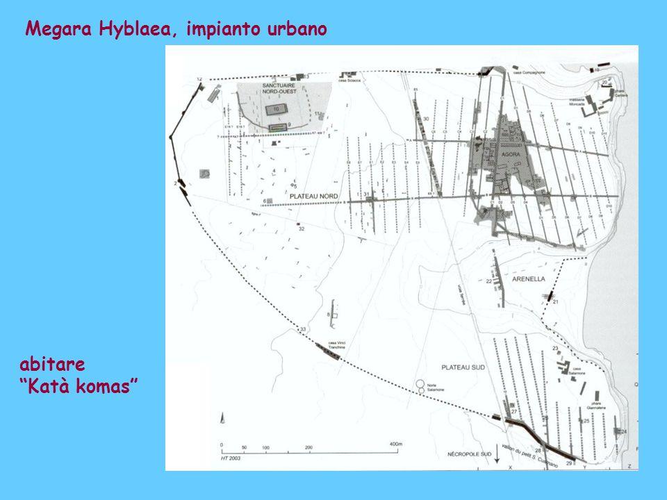 Megara Hyblaea, impianto urbano abitare Katà komas
