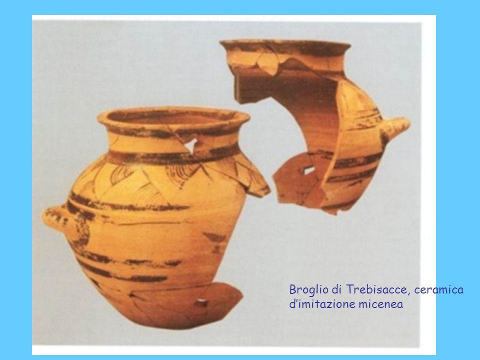 Broglio di Trebisacce, ceramica dimitazione micenea