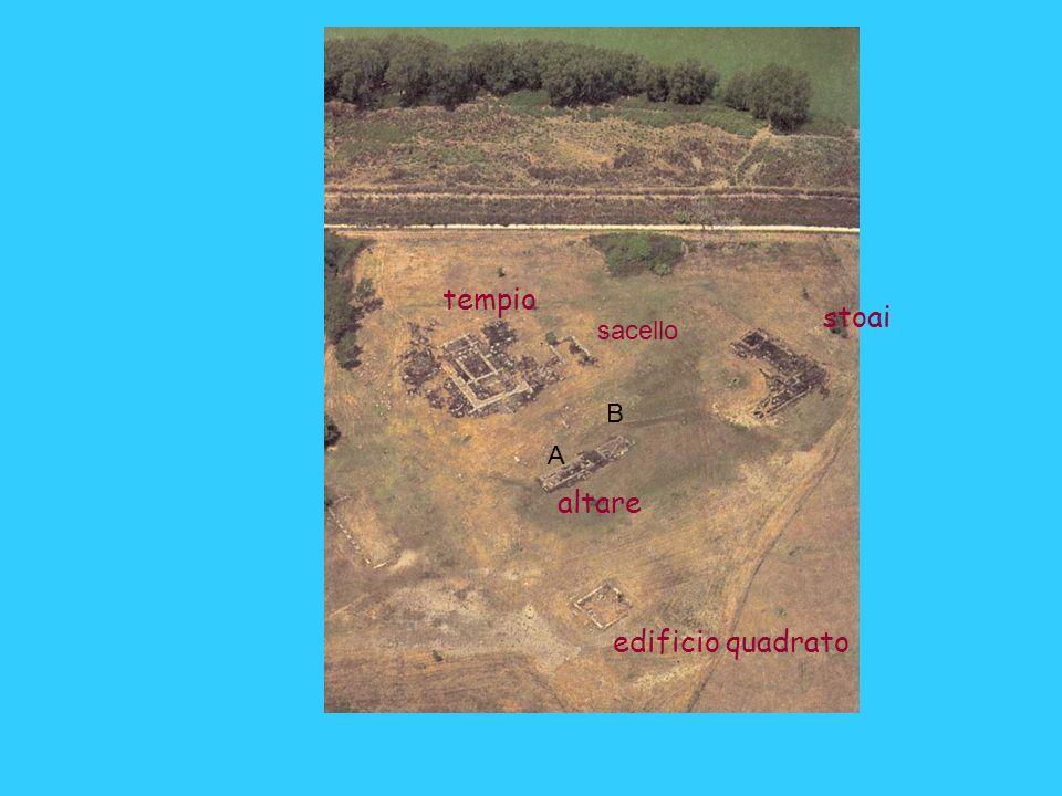 tempio stoai edificio quadrato altare sacello A B