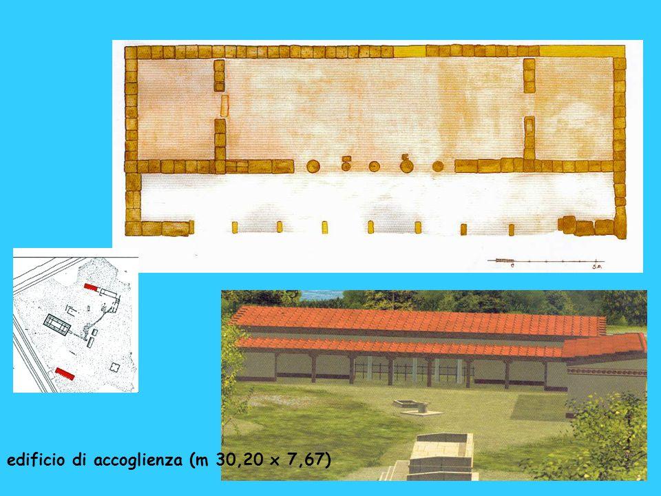 edificio di accoglienza (m 30,20 x 7,67)