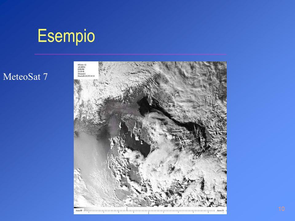 10 Esempio MeteoSat 7