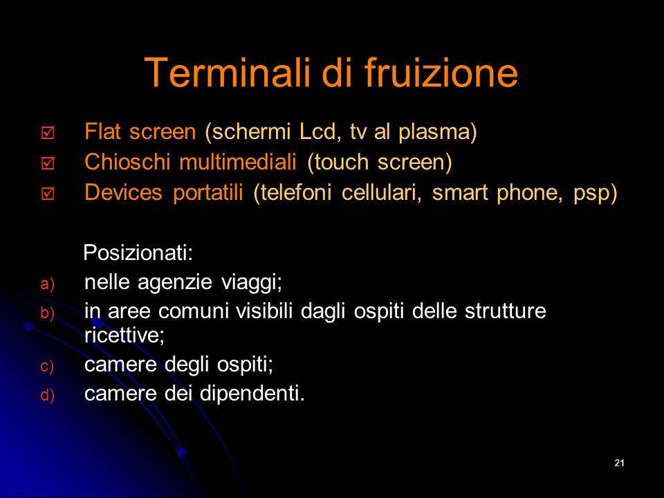 20 Formato dei contenuti VIDEO/Audio Immagini Documenti digitali: pdf, presentazioni..