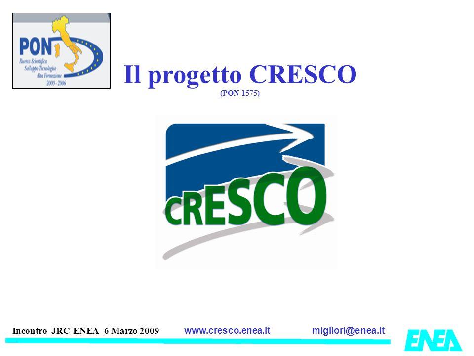 migliori@enea.itwww.cresco.enea.it Incontro JRC-ENEA 6 Marzo 2009 Il progetto CRESCO (PON 1575)