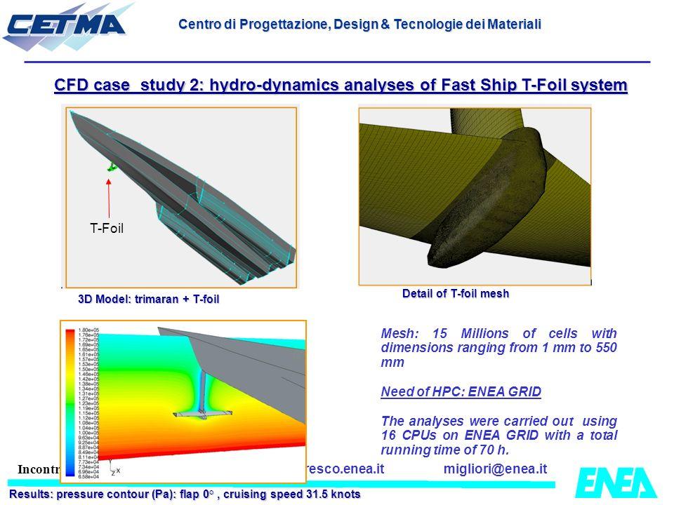 migliori@enea.itwww.cresco.enea.it Incontro JRC-ENEA 6 Marzo 2009 CFD case study 2: hydro-dynamics analyses of Fast Ship T-Foil system Detail of T-foi