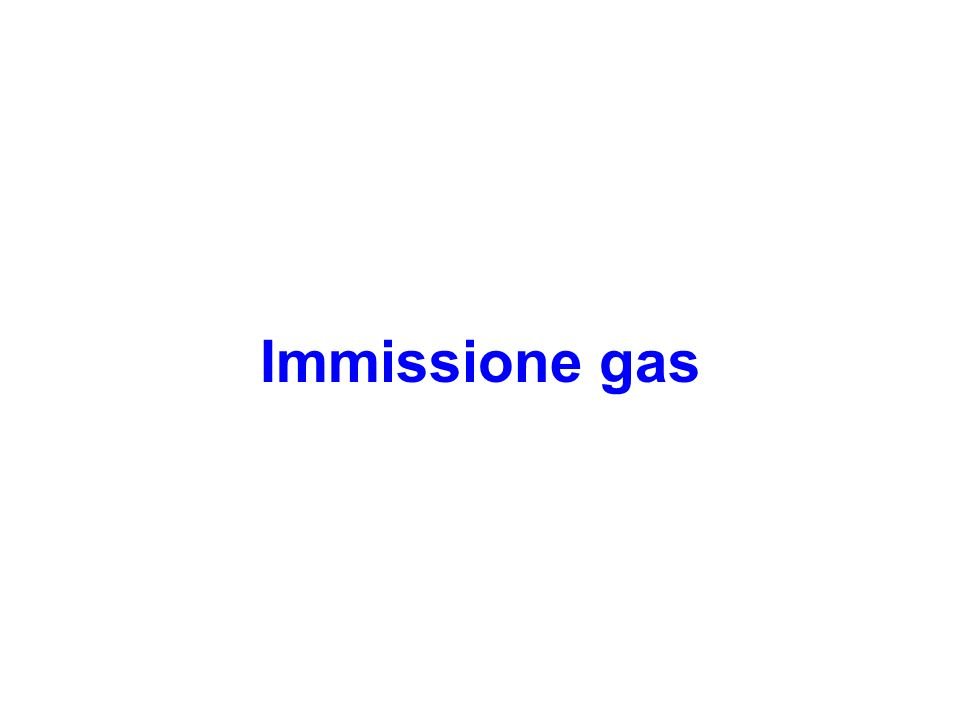 Immissione gas
