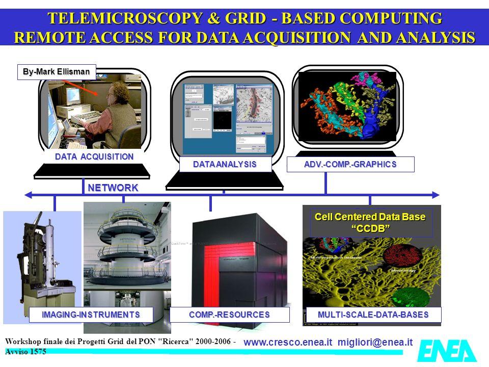 migliori@enea.itwww.cresco.enea.it Workshop finale dei Progetti Grid del PON Ricerca 2000-2006 - Avviso 1575 Le potenzialità computazionali ENEA-GRID & CRESCO Un sistema eterogeneo con più di 3000 CPU/core CodiciRisorsa serialiSezione 1 & ENEA-GRID paralleli fortemente accoppiatiSezione 2 paralleli debolmente accoppiatiSezione 1, 2, ENEA-GRID costituiti da più codici paralleliSezione 1, 2, Sezione 1+2 speciali ( FPGA, GB, CELL)Sezione 3 windows (seriali e paralleli)Sezione 3 non disponibili per LINUXENEA-GRID con Data Base di grandi dimensioni Sezione 1,2,3 e GPFS