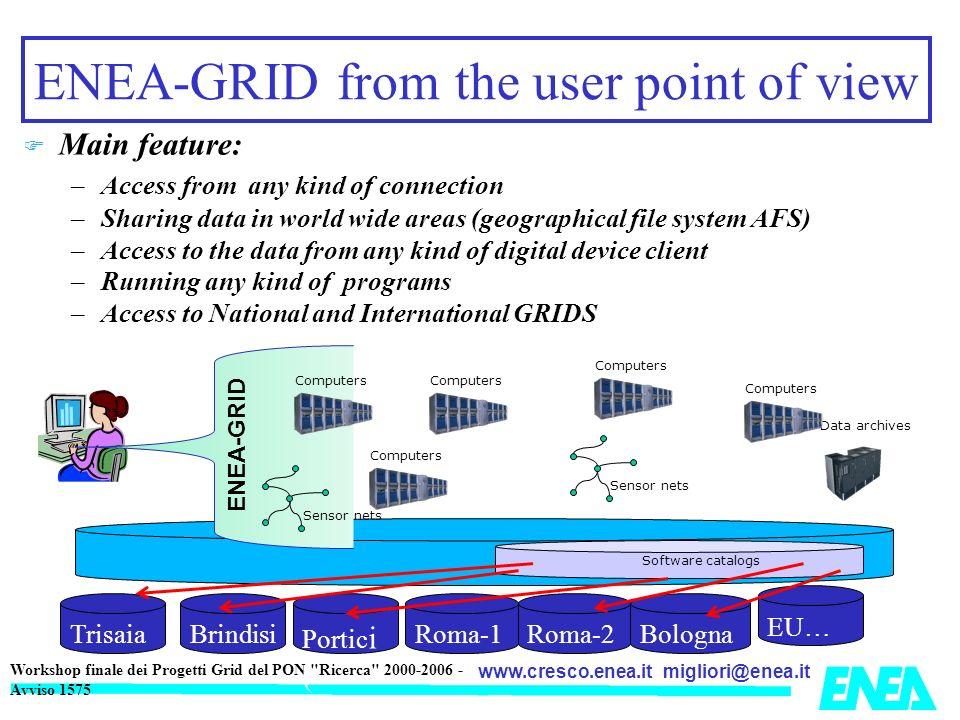 migliori@enea.itwww.cresco.enea.it Workshop finale dei Progetti Grid del PON Ricerca 2000-2006 - Avviso 1575 ITALIAN NATIONAL AGENCY FOR NEW TECNOLOGY, ENERGY AND THE ENVIRONMENT