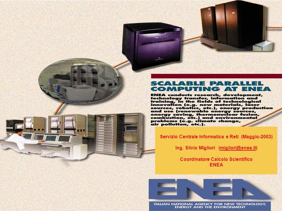 Servizio Centrale Informatica e Reti (Maggio-2003) Ing. Silvio Migliori (migliori@enea.it)migliori@enea.it Coordinatore Calcolo Scientifico ENEA