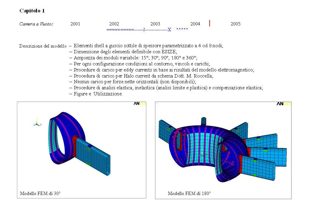 Capitolo 1 (CV) Modello FEM di 30°Modello FEM di 180°