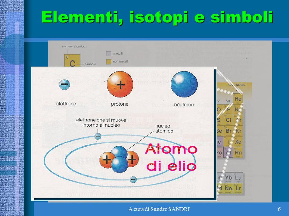 A cura di Sandro SANDRI6 Elementi, isotopi e simboli