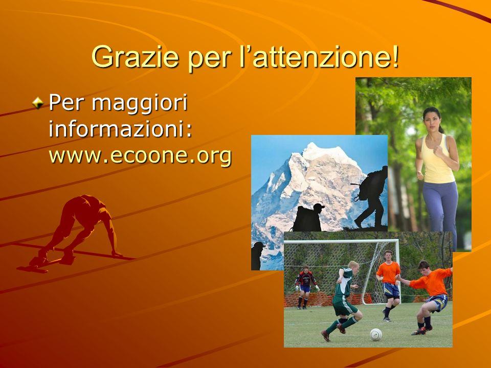 Grazie per lattenzione! Per maggiori informazioni: www.ecoone.org