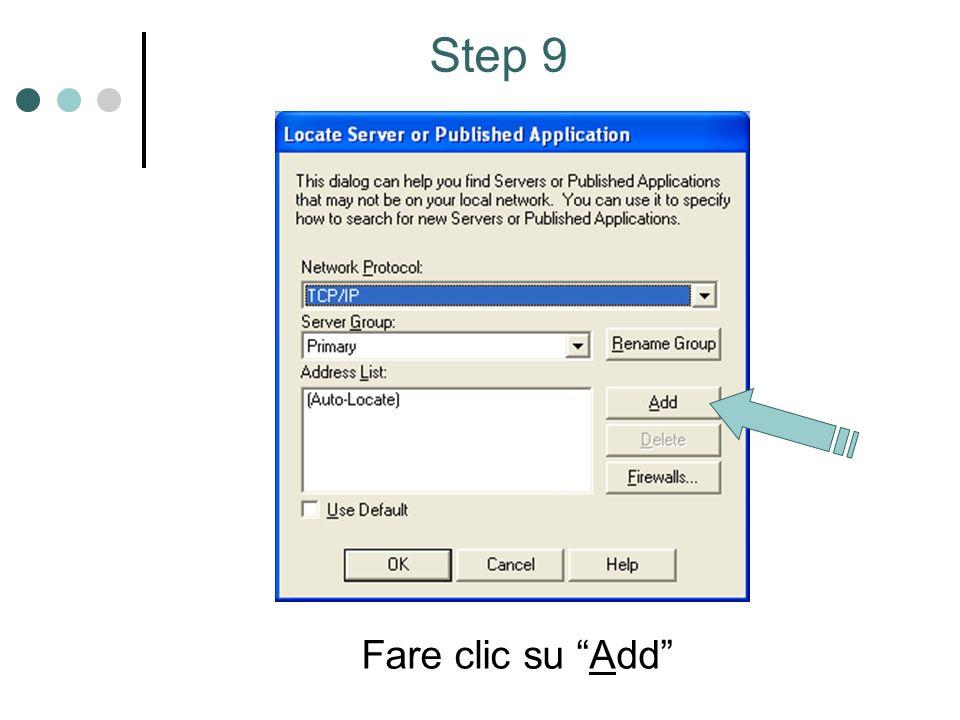 Fare clic su Add Step 9