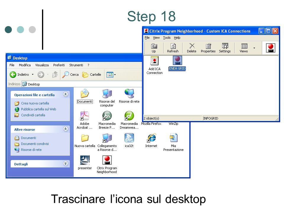 Trascinare licona sul desktop Step 18