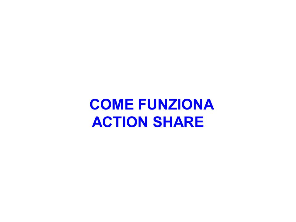 COME FUNZIONA ACTION SHARE