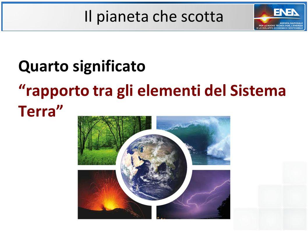Quarto significato rapporto tra gli elementi del Sistema Terra Il pianeta che scotta