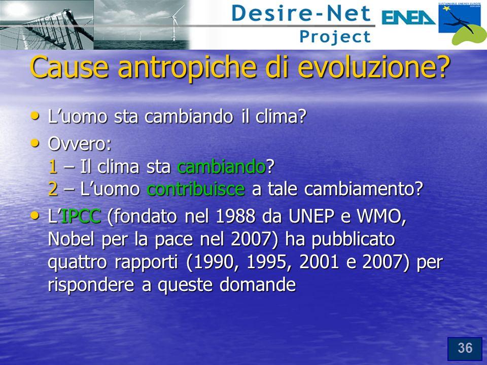 36 Cause antropiche di evoluzione.Luomo sta cambiando il clima.