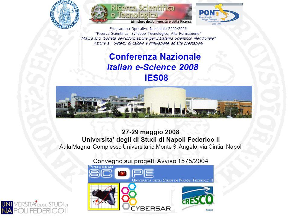 Programma Operativo Nazionale 2000-2006 Ricerca Scientifica, Sviluppo Tecnologico, Alta Formazione Misura II.2 Società dellInformazione per il Sistema