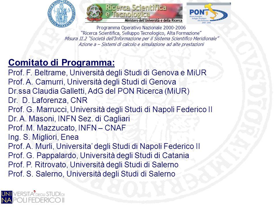 Comitato di Programma: Prof.F. Beltrame, Università degli Studi di Genova e MiUR Prof.