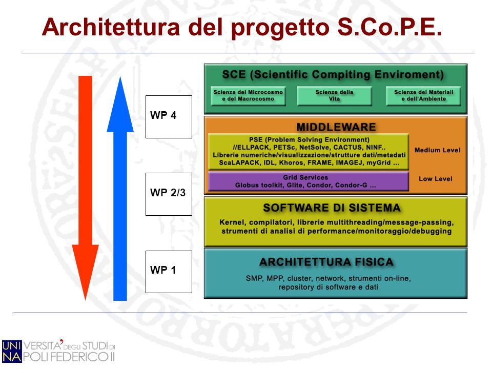 Architettura del progetto S.Co.P.E. WP 2/3 WP 4 WP 1