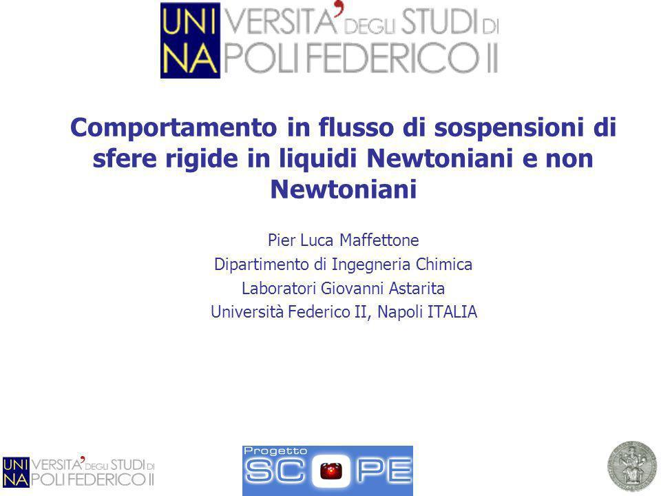 Comportamento in flusso di sospensioni di sfere rigide in liquidi Newtoniani e non Newtoniani Pier Luca Maffettone Dipartimento di Ingegneria Chimica