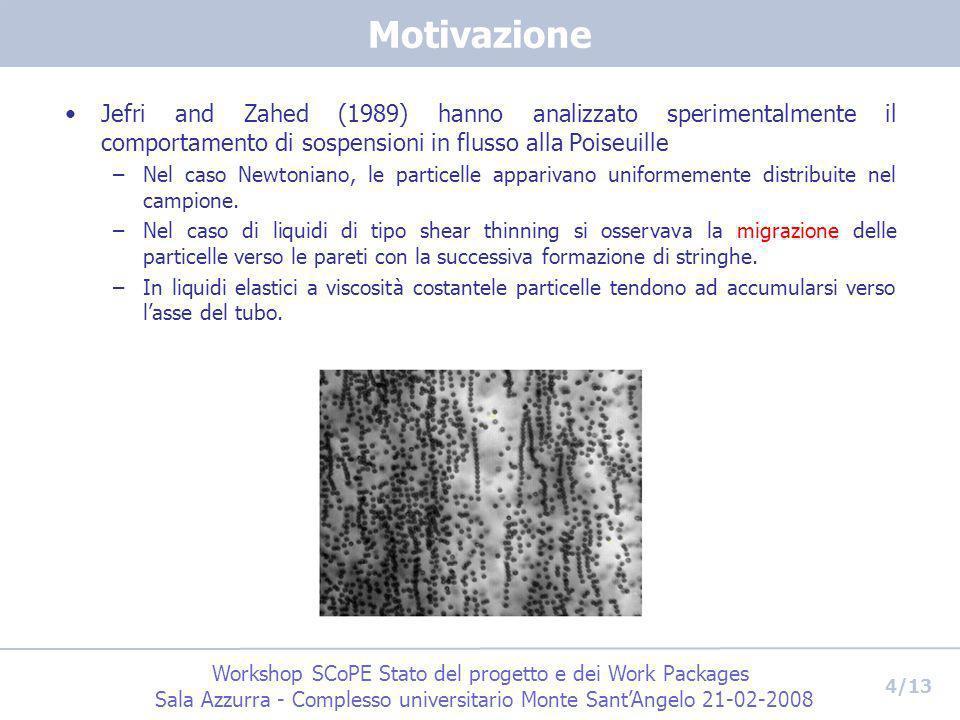 Workshop SCoPE Stato del progetto e dei Work Packages Sala Azzurra - Complesso universitario Monte SantAngelo 21-02-2008 4/13 Motivazione Jefri and Za