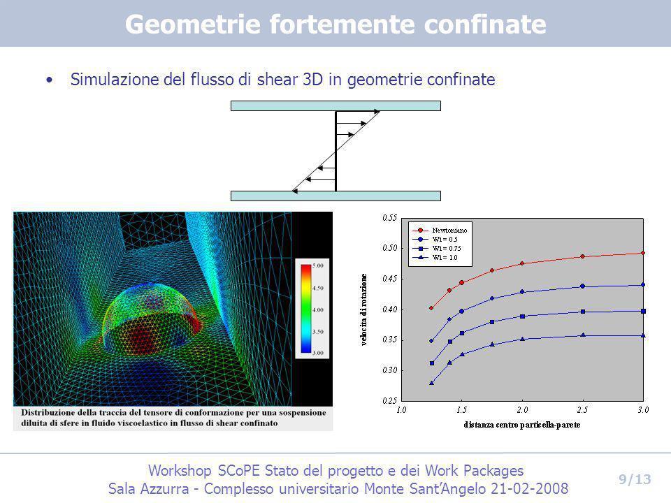 Workshop SCoPE Stato del progetto e dei Work Packages Sala Azzurra - Complesso universitario Monte SantAngelo 21-02-2008 9/13 Geometrie fortemente con