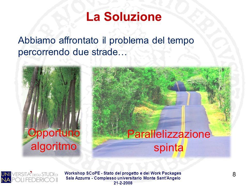 Workshop SCoPE - Stato del progetto e dei Work Packages Sala Azzurra - Complesso universitario Monte SantAngelo 21-2-2008 Lo strumento 9