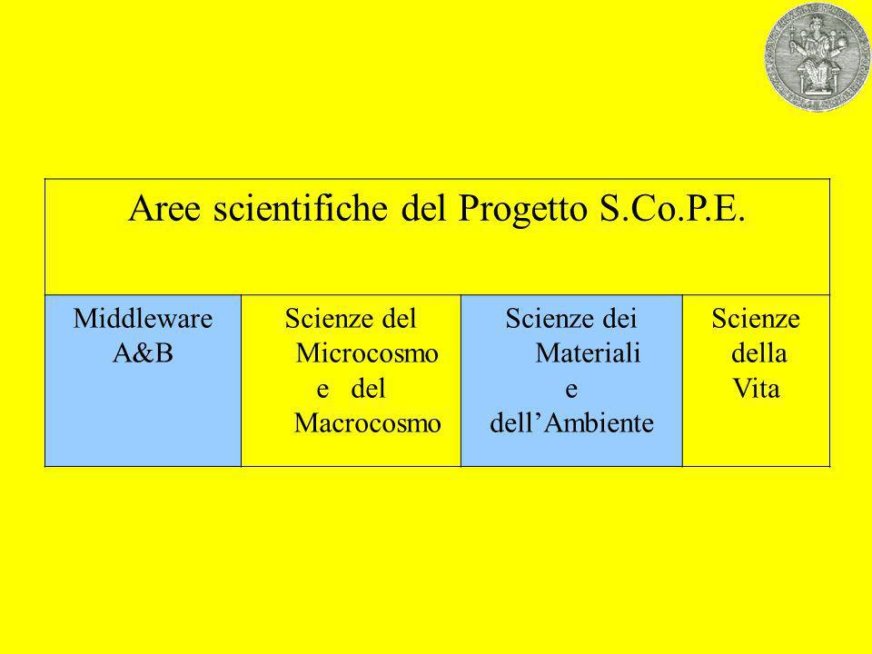 Aree scientifiche del Progetto S.Co.P.E.