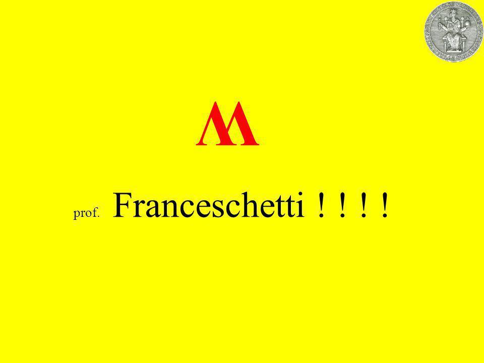 W prof. Franceschetti ! ! ! !