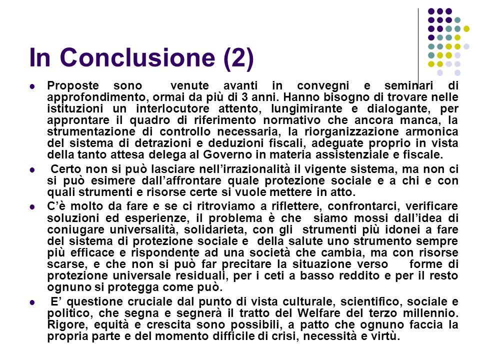 In Conclusione (2) Proposte sono venute avanti in convegni e seminari di approfondimento, ormai da più di 3 anni.