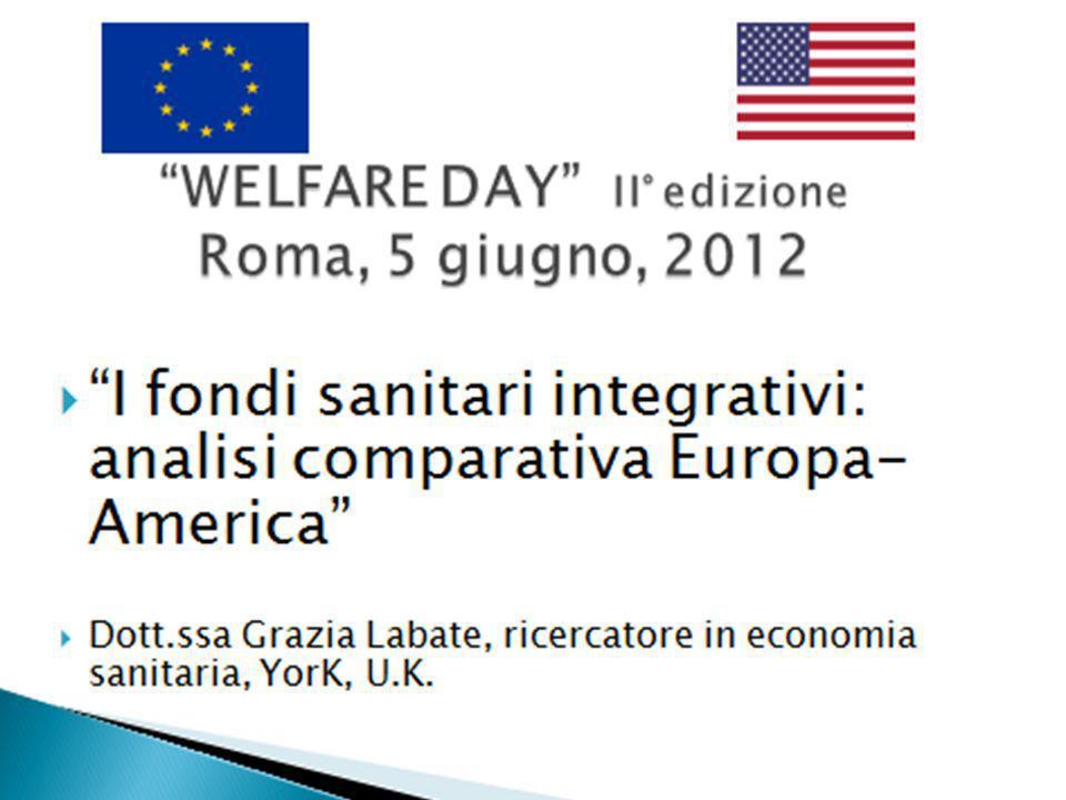 I fondi sanitari integrativi: analisi comparativa Europa-America Dott.ssa Grazia Labate, ricercatore in economia sanitaria, YorK, U.K.