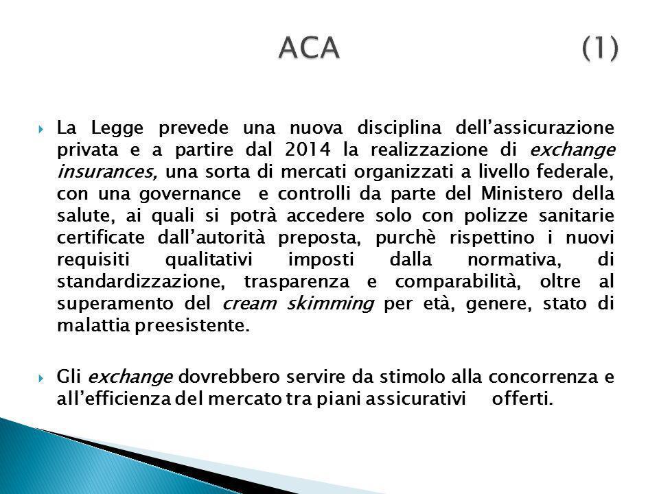 La Legge prevede una nuova disciplina dellassicurazione privata e a partire dal 2014 la realizzazione di exchange insurances, una sorta di mercati org
