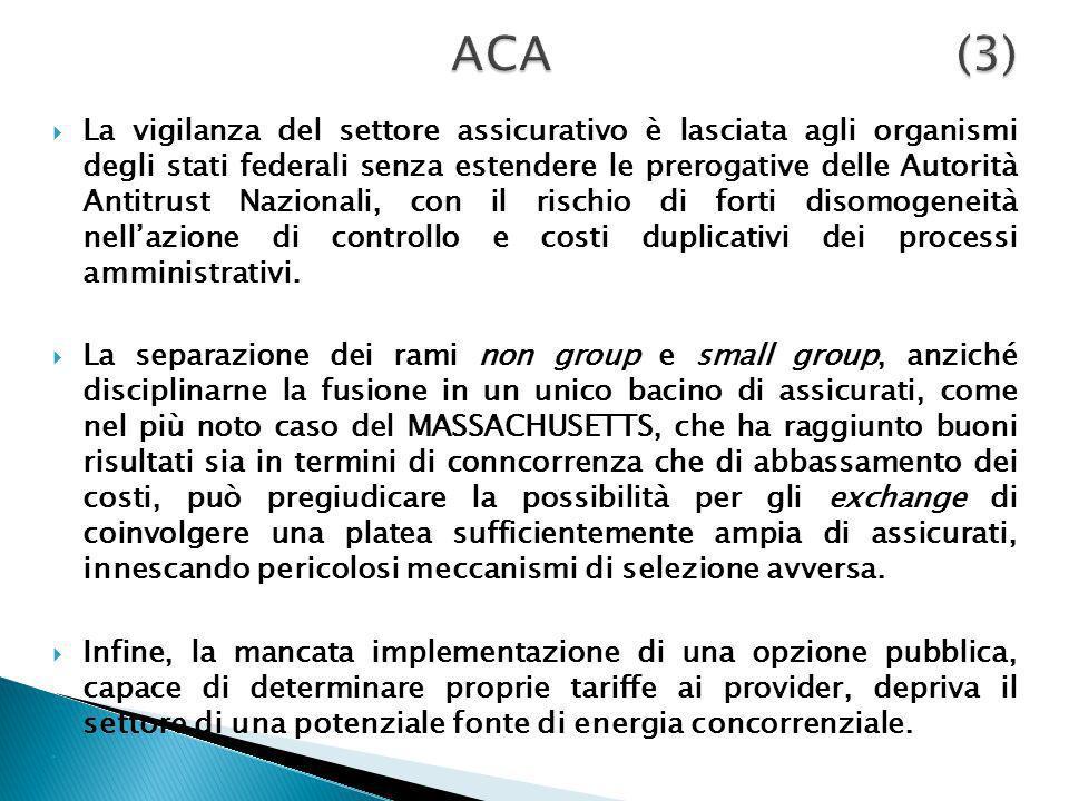 La vigilanza del settore assicurativo è lasciata agli organismi degli stati federali senza estendere le prerogative delle Autorità Antitrust Nazionali