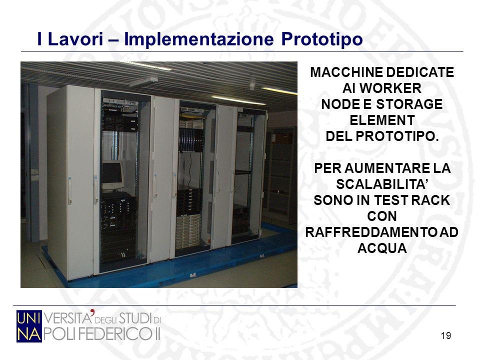 19 I Lavori – Implementazione Prototipo MACCHINE DEDICATE AI WORKER NODE E STORAGE ELEMENT DEL PROTOTIPO.