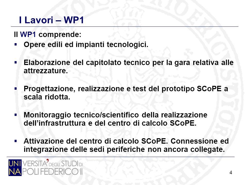 4 I Lavori – WP1 Il WP1 comprende: Opere edili ed impianti tecnologici.