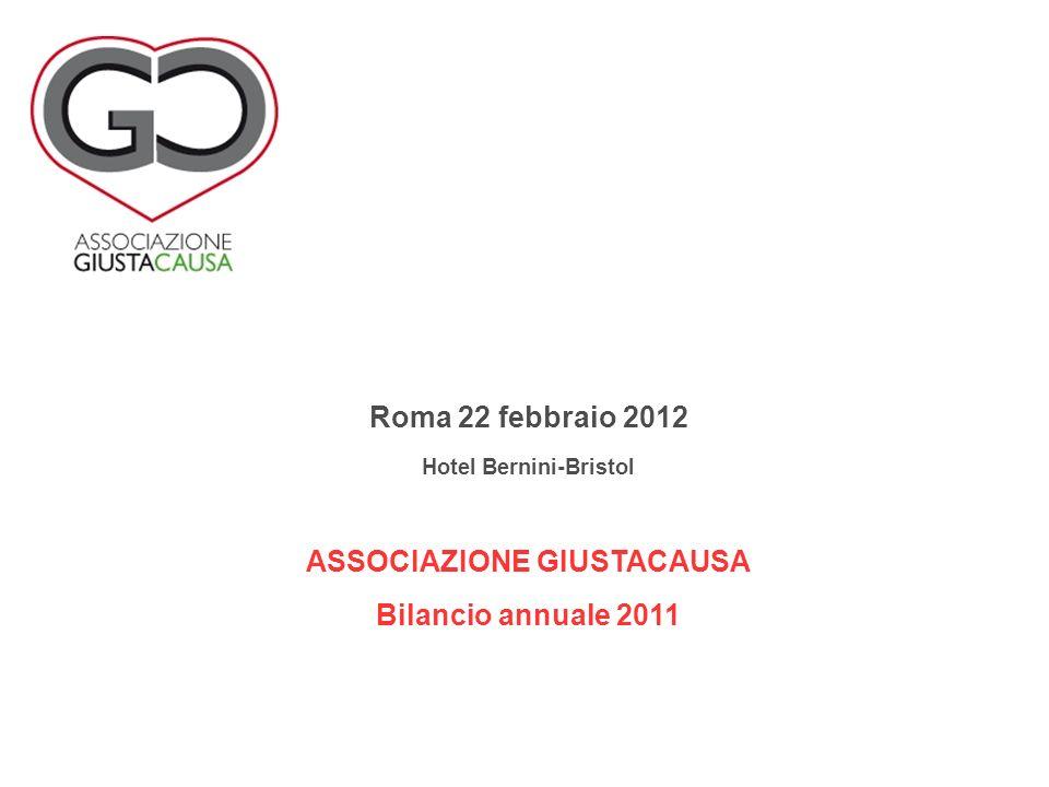Roma 22 febbraio 2012 Hotel Bernini-Bristol ASSOCIAZIONE GIUSTACAUSA Bilancio annuale 2011