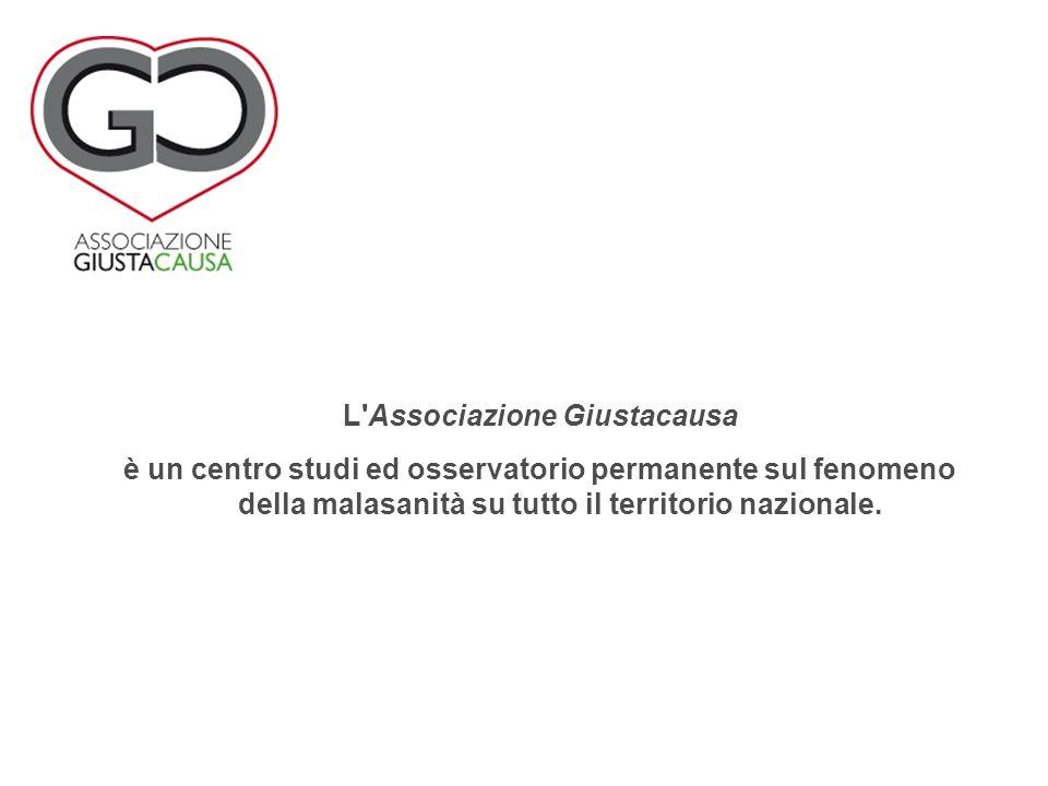 L Associazione Giustacausa è un centro studi ed osservatorio permanente sul fenomeno della malasanità su tutto il territorio nazionale.