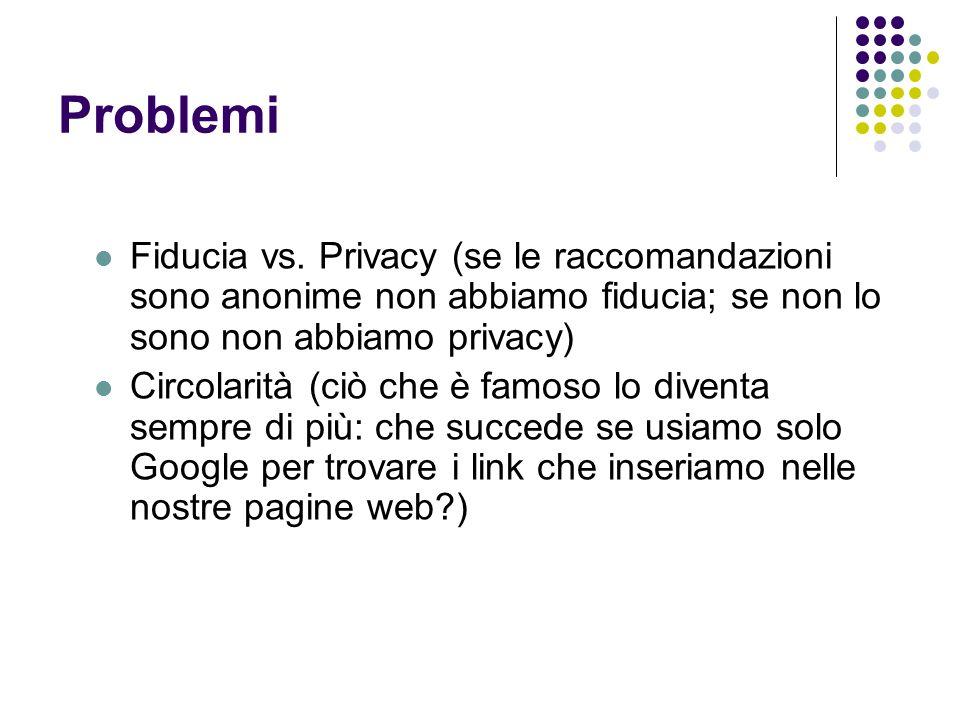 Problemi Fiducia vs.