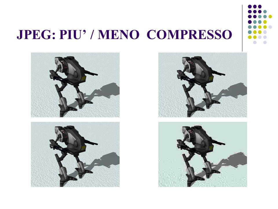 JPEG: PIU / MENO COMPRESSO