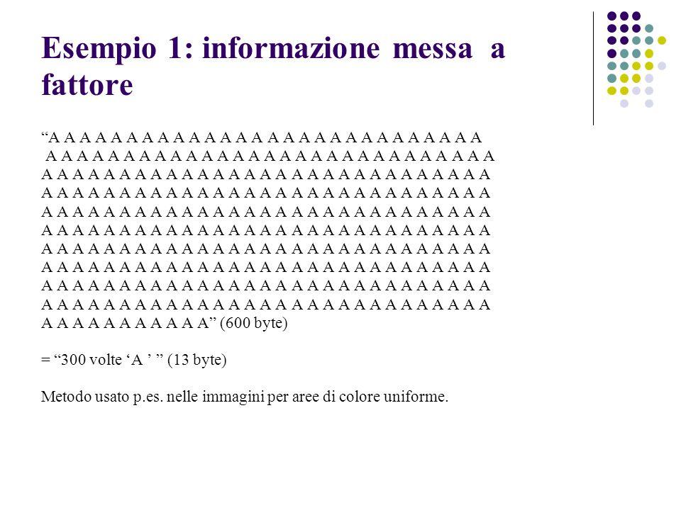 Esempio 1: informazione messa a fattore A A A A A A A A A A A A A A A A A A A A A A A A A A A A A A A A A A A A A A A A A A A A A A A A A A A A A A (6