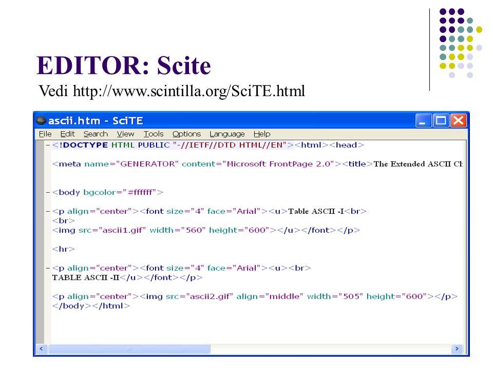EDITOR: Scite Vedi http://www.scintilla.org/SciTE.html