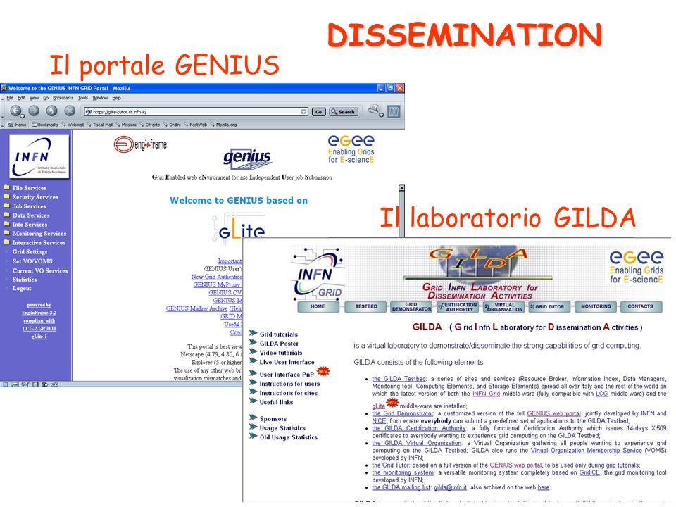 Il laboratorio GILDA Il portale GENIUS DISSEMINATION