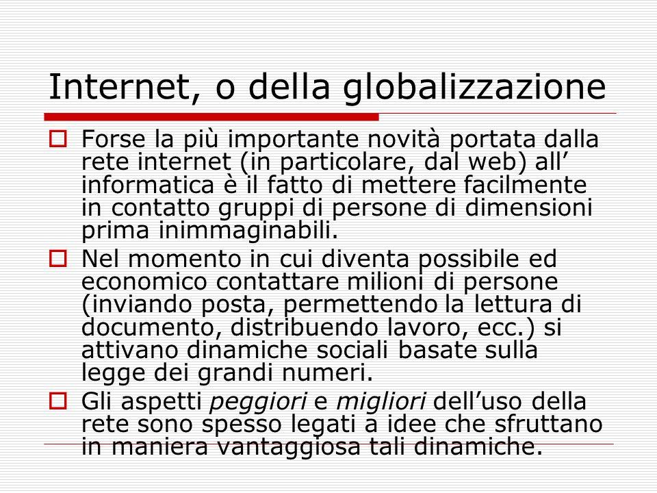 Aspetti negativi Spam Virus, Attacchi a siti web Truffe elettroniche (e.g. phishing)