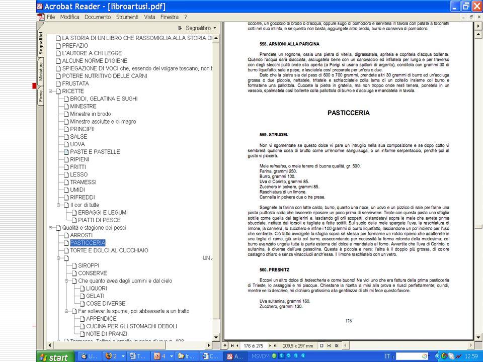 Attributi delle ripartizioni testuali type Indica il nome convenzionale per questa categoria di partizione del testo.