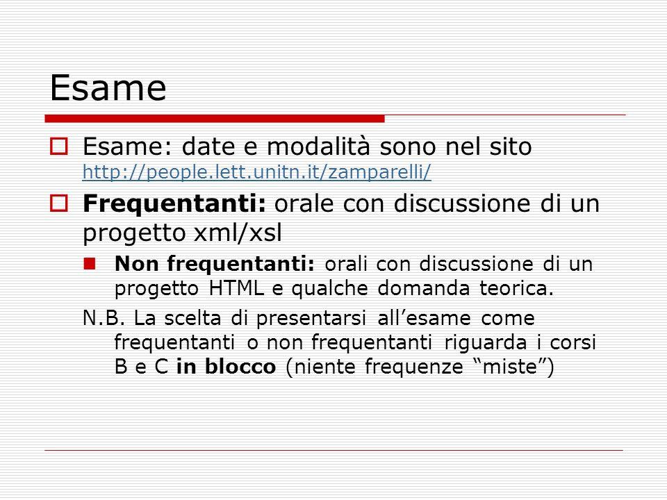 Esame Esame: date e modalità sono nel sito http://people.lett.unitn.it/zamparelli/ http://people.lett.unitn.it/zamparelli/ Frequentanti: orale con dis