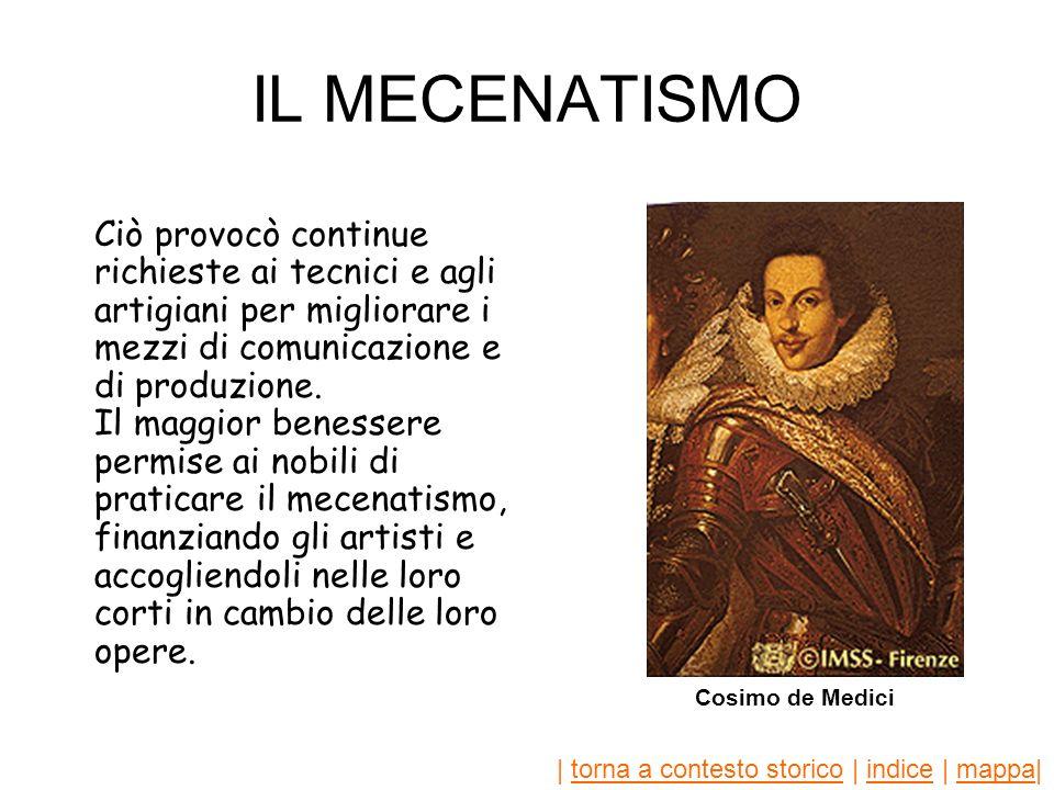 | torna a contesto storico | indice | mappa|torna a contesto storicoindicemappa RINASCIMENTO IN ITALIA Gli studi filologici e linvenzione della stampa contribuirono ai progressi delle scienze nel Rinascimento.
